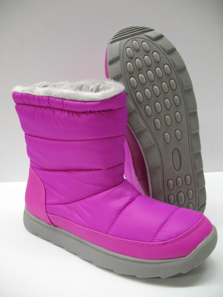 Tek Gear Soft Quilted Faux Fur Lined Winter Puff Boots Fuchsia Pink Womens 9 NIB