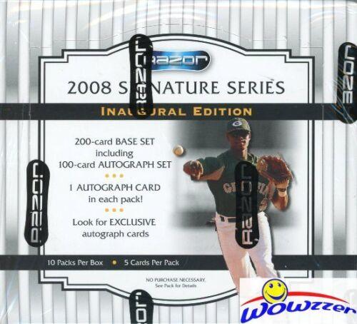 2008 Razor Signature Series Baseball Factory Sealed HOBBY Box-10 AUTOGRAPHS!