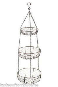 Kitchen-craft-living-nostalgia-large-3-palier-suspension-legumes-paniers-de-rangement