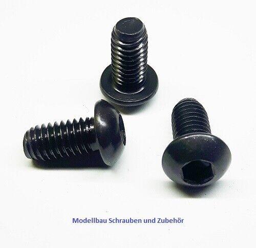 ISO 7380-1 Linsenkopfschrauben M5-SCHWARZ VERZINKT-Stahl 10.9 hochfest-ab 1 Stk.