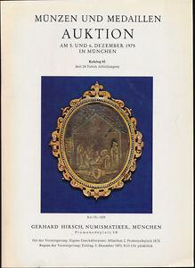 Hn Hirsch Munzen Und Medaillen Auktion Katalog 95 Munchen Dezember
