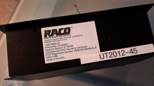 RACO GUARD IT REMOTE ALARMS AND CONTROLS $299EA