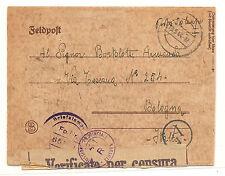 Italy German Feldpost Letter Sheet To  Bologna, Italy Censored Twice WW II 1944