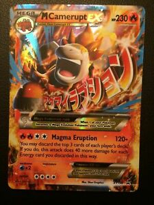 Pokemon-XY198-M-Camerupt-Normal-Sized-Holo-Promo-Card-MINT-TCG
