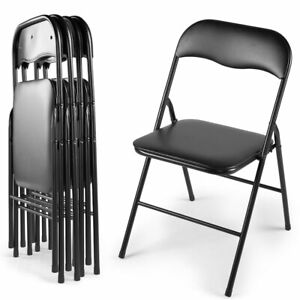 Stupendous Details About 5 Pcs Commercial Wedding Party Event Stack Able Plastic Folding Chairs Black Evergreenethics Interior Chair Design Evergreenethicsorg