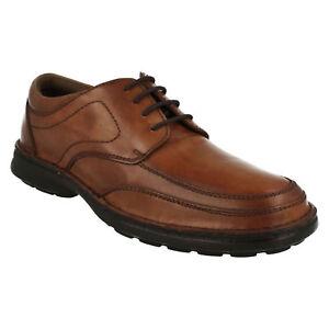 Hommes Easyflex Lacet Bout Rond Smart Habillé Marron Cuir Chaussures 32010