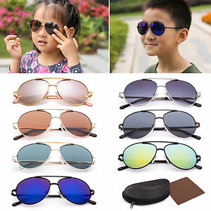 5274e3c635 Image is loading Vintage-Aviator-Sunglasses-For-Boy-Girls-Kid-Child-