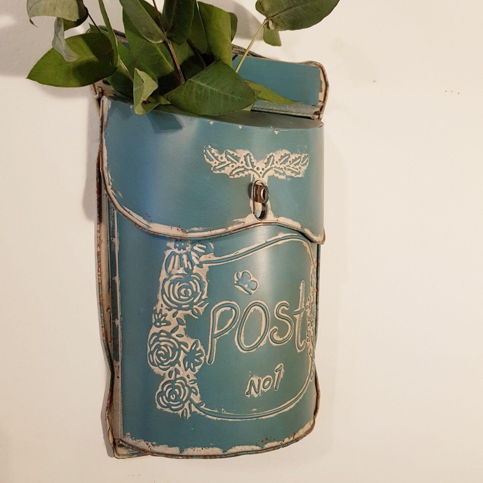 Landhaus Deko Briefkasten Metall Shabby Vintage Wanddekoration Postkasten | Good Design