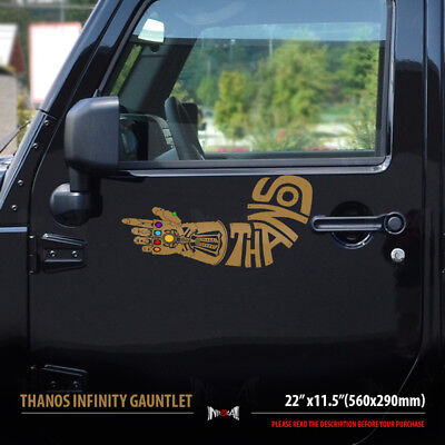 Vinyl Decal Truck Car Sticker Laptop Marvel Avengers Thanos And Guantlet