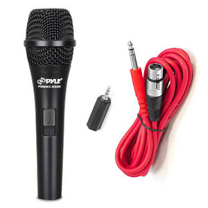 NEW Pyle PMIKC45BK Handheld Vocal Condenser Microphone W/ 15 FT XLR Cable