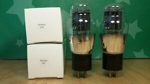 Matched-Pair-of-Philco-2A3-Spring-Top-Engraved-Base-1935-Vacuum-Tubes