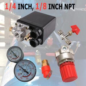 175PSI-12Bar-20A-Piccolo-compressore-d-039-aria-Pressostato-Regolatore-Quattro-fori