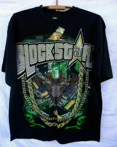 Block Star t- shirt hip hop original made in U.S.