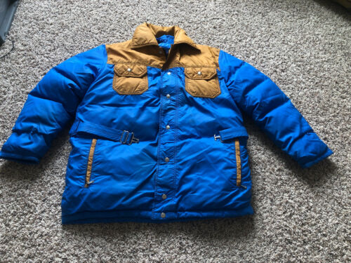 Vintage Down Fill Country USA Western Zip Puffer J