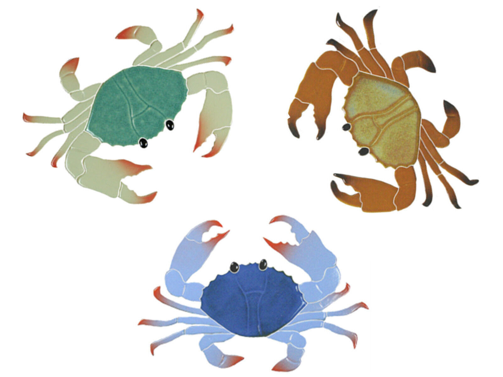 Mosaic Ceramic Crabs for Swimming Pool or Wall - Many Choices - Free Shipping