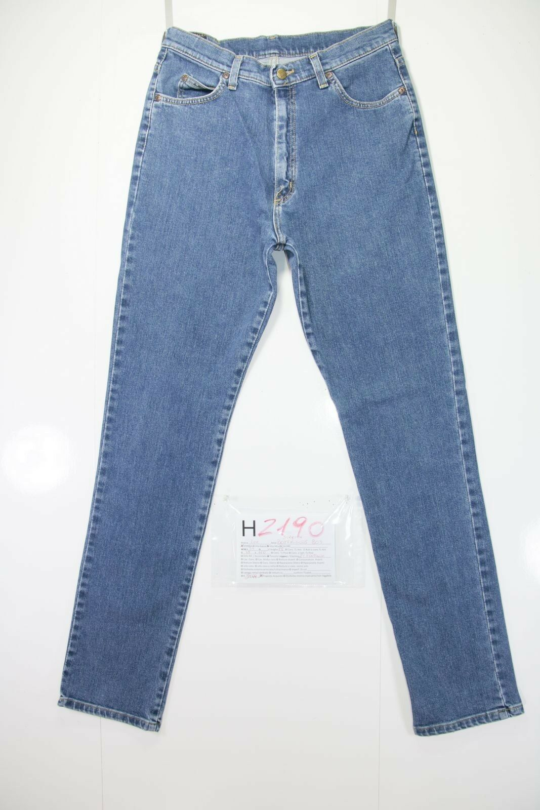 Lee stretch boyfriend's 80 (Cod. H2190) Tg.48 W34 L33 jeans usato vita alta