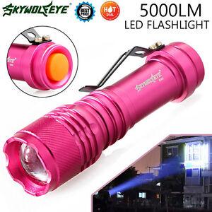 NOUVEAU-5000LM-cree-Q5-AA-14500-LED-3-Modes-Zoomable-Focus-Lampe-Torche