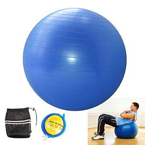 YOGA-BALL-EXERCISE-Balance-65cm-Fitness-Stability-Pilates-Gym-Anti-Burst-amp-Pump