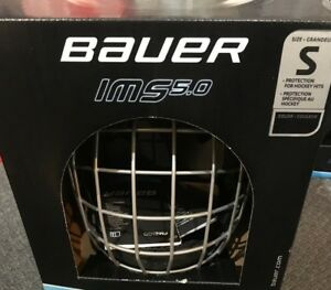 Bauer IMS 5.0 Hockey Helmet Combo with Cage! Black CSA HECC CE Ice ... a583c34a24845