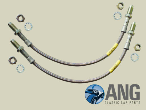 TRIUMPH SPITFIRE MkIV,1500,GT6 MkIII STAINLESS STEEL REAR BRAKE HOSES x 2 GBH166