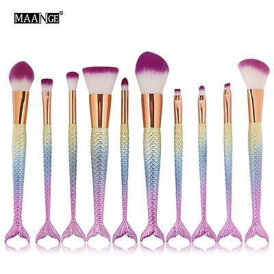 NEW Mermaid Brush Set Foundation Eyeshadow Brushes Cosmetic Makeup Brushes Tool