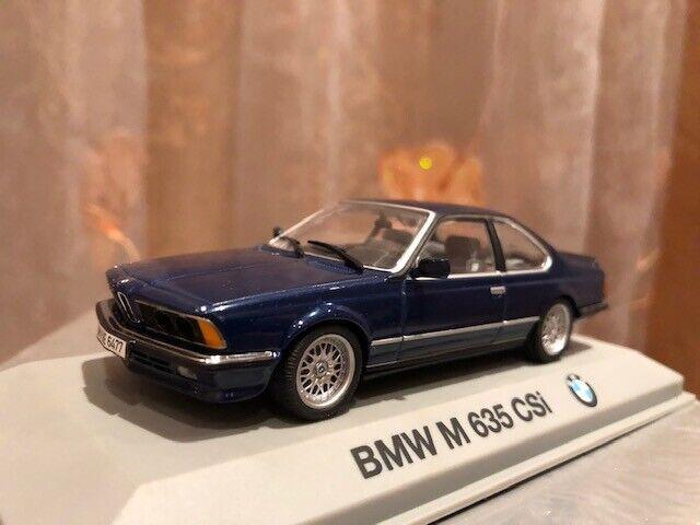 BMW M 635 CSI  E24 1982 1 43 Minichamps Surf Bleu MT RARE  haute qualité