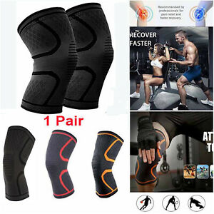 2-X-Knee-Support-Sleeve-Compression-Brace-For-Sport-Joint-Pain-Arthritis-Relief