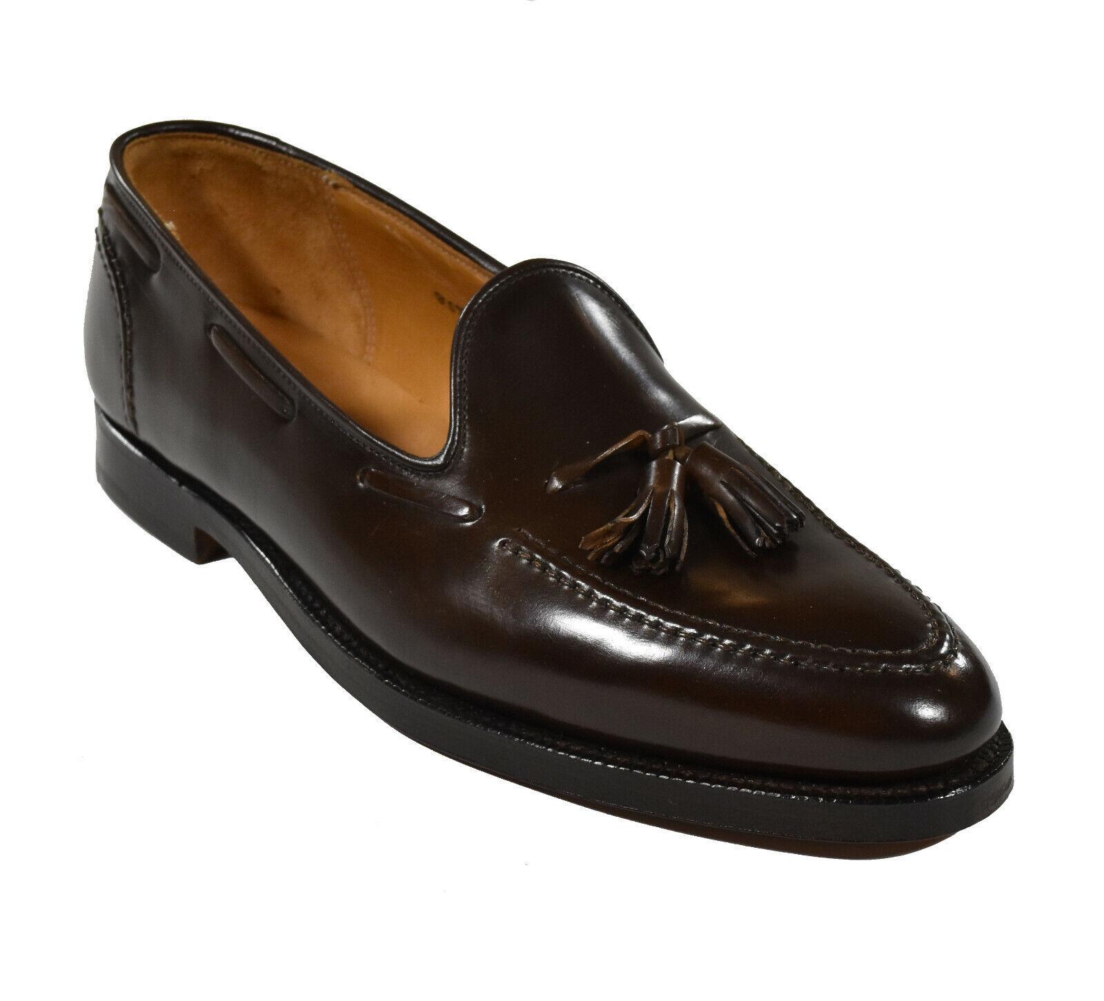 Ralph Lauren Crockett & Jones Brown Marlow Cordovan Tassel Loafers 12 New