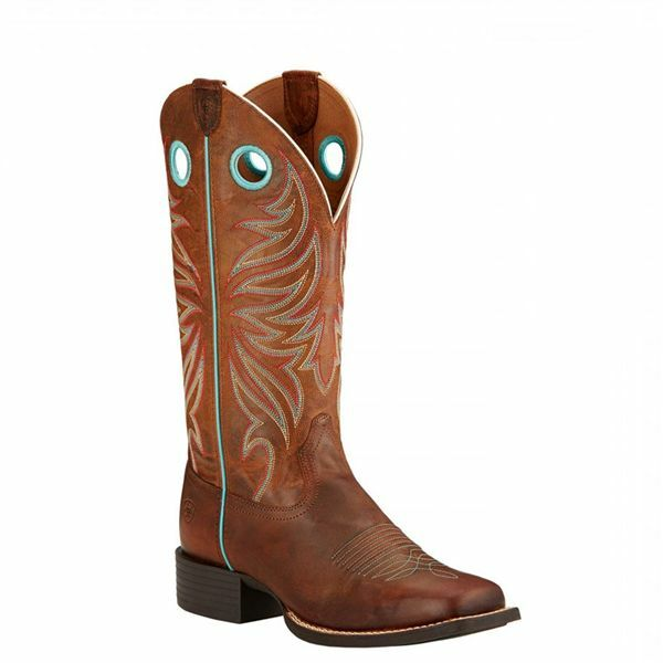 10017390 Ariat Women's Round Up Ryder Western Cowboy Boots Sassy Brown NEW