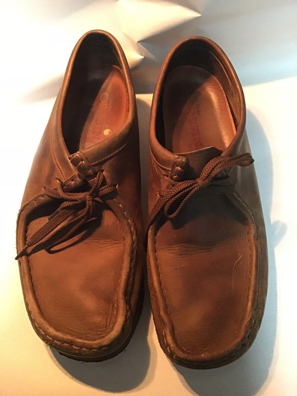 Clarks Originals Wallabee Hommes's  marron cuir chaussures Taille 10 1 2 M