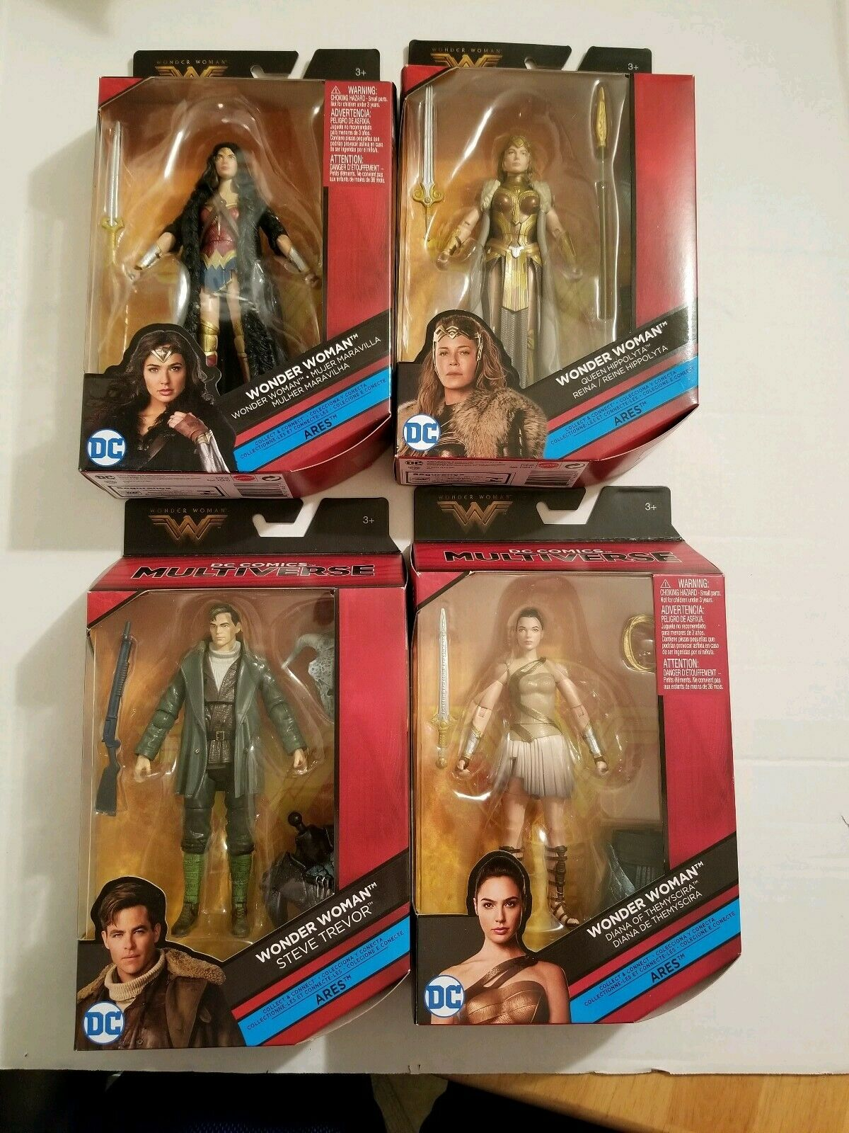 DC Multiverse Mujer Maravilla Aries CNC Steve Trevor Queen Hippolyta Diana