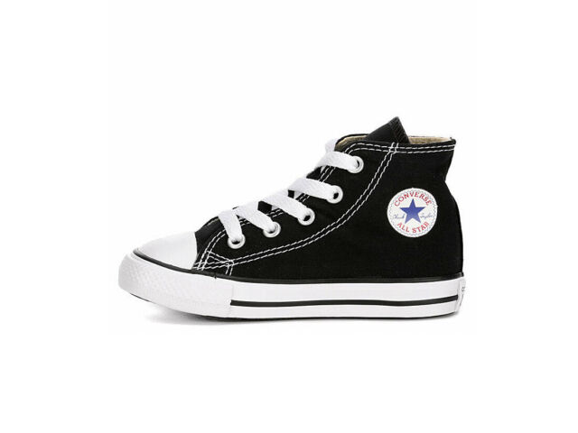 Converse All Star Black White Hi Top Shoes Infant Baby Toddlers Sneakers 7J231