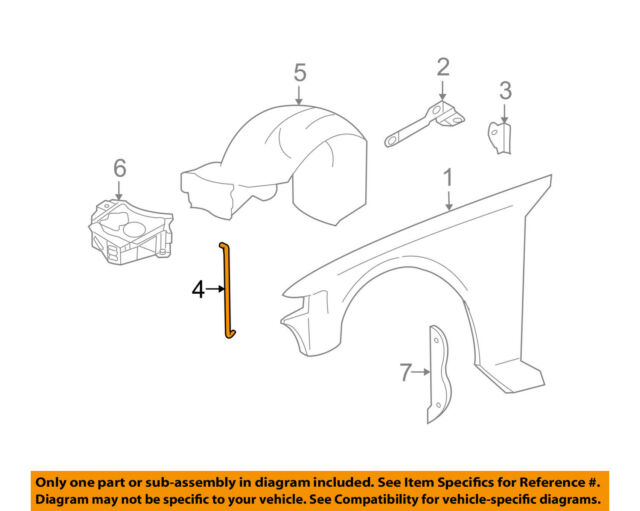 lincoln ford oem 98 11 town car fender support brace f8vz16a023aa import strat wiring diagram car fender diagram #12