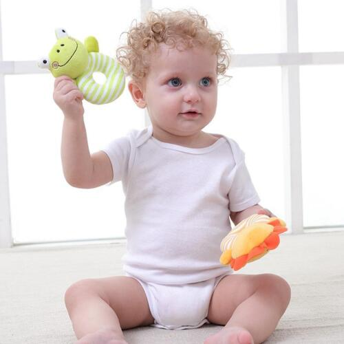 Baby Boys Girls Rattle Toys Newborn Animal Design Plush Hand Bells for Gifts 6A