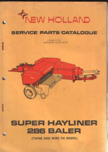 New Holland empacadora 286 hayliner piezas Manual