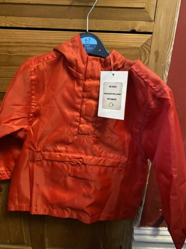 PAC A Mac Red 18-24 Months Boys Or Girls BNWT Rain Jacket