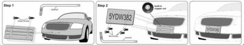 License Plate Bumper Mount Holder Bracket For Scion Brand New