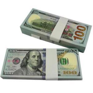 100-Bills-Full-Print-Best-Movie-Prop-Play-Fake-Money-Joke-Prank-Magic-Props-BR