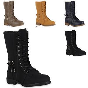 Damen-Schnuerstiefel-Warm-Gefuetterte-Stiefel-Winter-Schuhe-Profil-819682-Mode