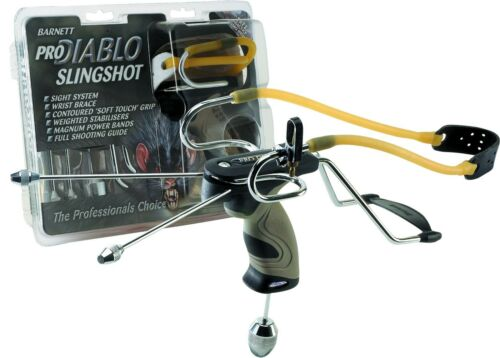 Barnett PRO DIABLO Power Hunting Slingshot Catapult + Sight + FREE Practice AMMO