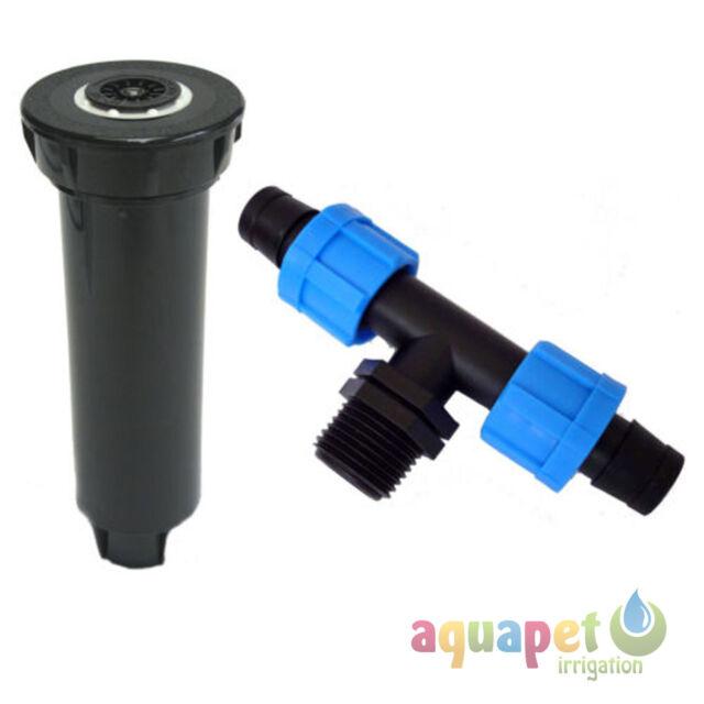 "Lawn Pop Up Garden Irrigation Sprinkler Watering 6"" Body Adjustable 4.5m Radius"