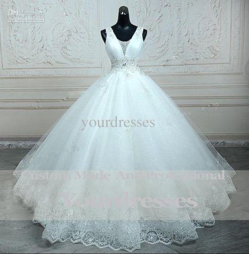 New white ivory Wedding Dress Bridal Gown custom size 4 6 8 10 12 14 16 18 20 22