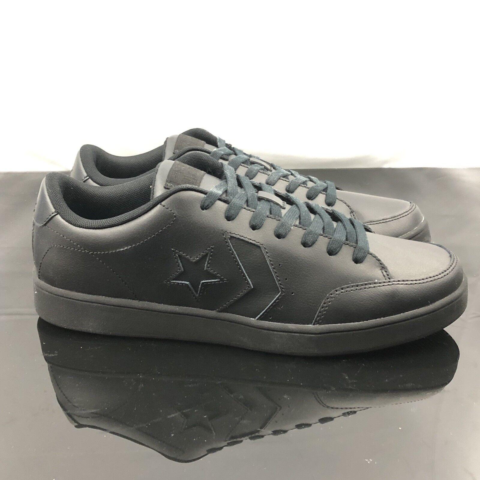 Converse Star Court Buey De Cuero Negro 159803C Confort Para Hombre Para Mujer Zapatos 11