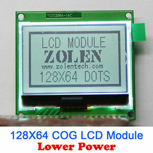 Details about 128X64 Serial (COG) Graphic LCD Module Display Screen ST7565P  ST7565 for Arduino