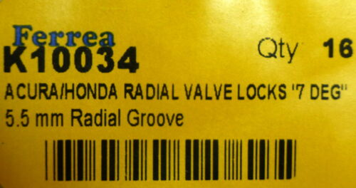 Ferrea Valve Locks Keepers Honda Acura DOHC V-TEC B16A D16A B17A1 K24  B18C B20