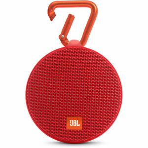 JBL-Clip-2-Portable-Bluetooth-Speaker-Waterproof-Red-JBLCLIP2REDAM