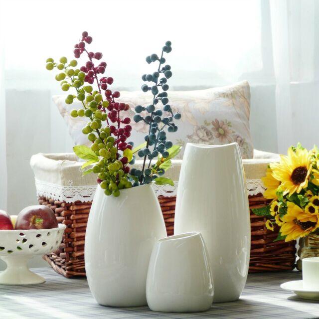 Tall Dark Brown Ceramic Flower Fl