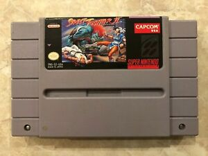 Street-Fighter-II-Super-Nintendo-SNES-Cartridge-Authentic