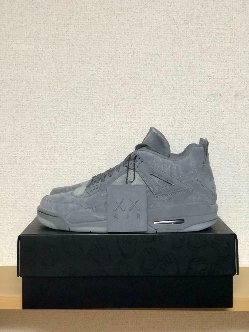 KAWS NIKE AIR JORDAN 4 OG FIRST ORIGINAL GLAY 28CM US 10 SNEAKERS SHOES CASUAL