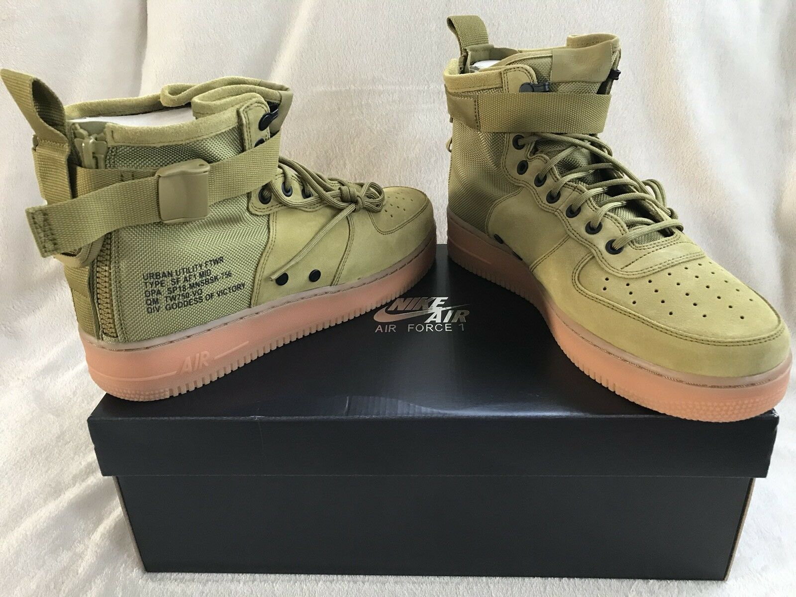 Nike Special 1 Forces Air Force Mens Mid Shoes Desert Sepatu Basket Kevin Durant Kd 9 Home Original 843392 411 Moss 917753 301 Sz 11 C33036